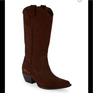 New Frye Sacha tall western riding boots brown 6.5